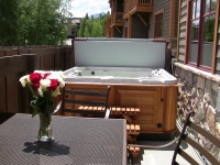 We have a private hot tub on the patio.